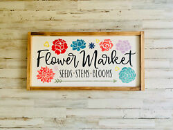 Flower Market Sign Floral Spring Decor She Shed Sign She Shed Garden  Frame