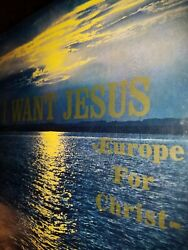 I WANT JESUS -Europe For Christ- [Vinyl LP Kendall Lee Records] Private Press