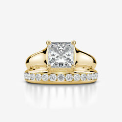 MATCHING BAND SET DIAMOND RING PROMISE CERTIFIED 18K YELLOW GOLD 1 14 CARATS