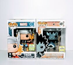 FUNKO POP GAJEEL 481 & THOR 438 ECCC SHARED EXCLUSIVE MINT