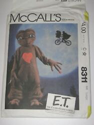 McCall's 8311 E.T. Extra-Terrestrial Costume from 1982 size L (12-14) UC FF