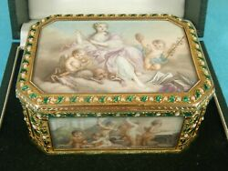 Unique French 18ct Gold Enamel Box Queen Elizabeth Royal Present Lefevre Ca1860