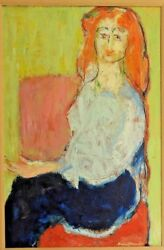 Humbert Howard African American Painter Signed & Framed Oil Painting of Woman