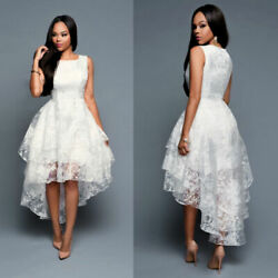 Women Formal Long Lace Dress Prom Evening Party Cocktail Bridesmaid Wedding Gown $22.80