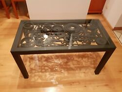 Engine parts coffee table industrial style metal art
