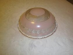 Antique light fixture glass shade Pink 3 hole mounted type $30.00