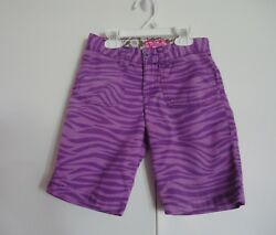 Children#x27;s Place Purple Girl#x27;s Animal Print Shorts 6X 7 $3.00