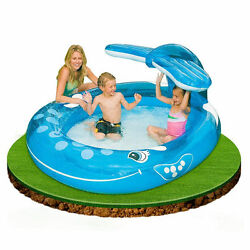 Whale Spray Pool Inflatable Portable Air Swimming Kid Summer Children SS