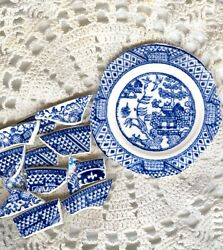Classic Blue Willow Broken China Mosaic Tiles. Royal & Laughlin Blue and White