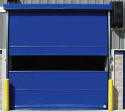 Commercial [8' x 10'] Vinyl Pro Roll Up Door Using Chain-Hoist  Fabric Door