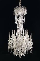 Artiasn made by Frank Crescente 18 arm old world crystal chandelier 112 scale