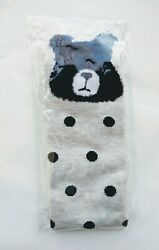 Novelty Socks Women Black Bear Polka Dots Crew $6.00