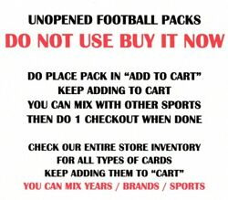 OLDER UNOPENED FOOTBALL PACKS - SELECT FROM LIST $1.00