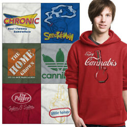 Stoner Hooded Graphic Weed Sweatshirt For Men Women Pullover Marijuana Hoodie