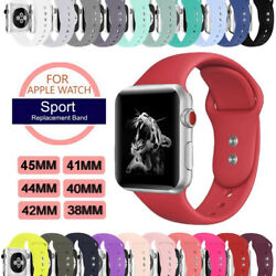 Sport Silicon Watch Band Strap fr Apple Watch iWatch Series 5 4 3 40mm 44mm 42mm