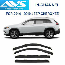 AVS Rain Guards 194981 In-Channel Vent Visor 4 pieces for 14-19 Jeep Cherokee