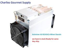 NEW Bitmain Antminer A3 1275W Blake(2b) SIAcoin Miner in Hand Same day Ship