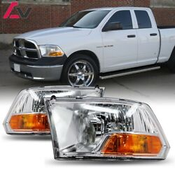 2009 2018 For Dodge Ram Clear Lens Aftermarket Replacement Headlights Headlamps $88.55