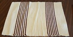 Country Rustic Rug Red Cream 24quot; x 16 3 4quot; $6.00
