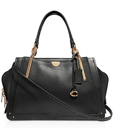 🌺🌹 Coach Dreamer 36 Large Leather Carryall Black-Gold Style 31640