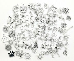 Different Types Tibetan Silver Charms Pendants beads Craft Jewellery 2#