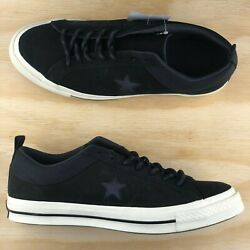 Converse One Star Ox Premium Black Leather White Low Top Shoe 162545C Multi Size
