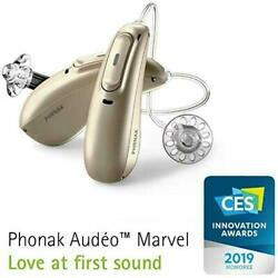 New Phonak Audeo M90R Rechargeable Hearing Aid -Fast Del-With Warranty -2pcs