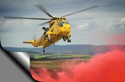 RAF SEAKING HELICOPTER A3 17quot; x 12quot; Photo Picture Print GBP 12.50