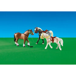 Playmobil 3 Racing Horses Building Set 6360  NEW IN STOCK