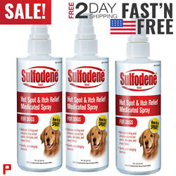 3 pack Sulfodene Medicated Hot Spot Itch Relief Spray for Dogs...