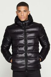 Mens Good For Nothing Romero Climate Shine Black Puffer Jacket (GFN6) RRP £79.99