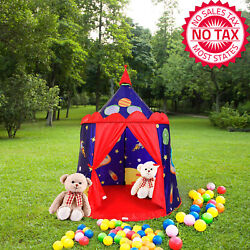 Castle Play Tent Indoor&Outdoor Kids Playhouse With Carrying Bag (Space Cowboy)