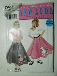 Simplicity New Look Costumes Pattern 0604 Poodle Skirts Size K5 7 8 10 12 14 $13.50