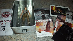 PS3 Tomb Raider SURVIVAL COLLECTORS EDITION Tin Box with sealed game