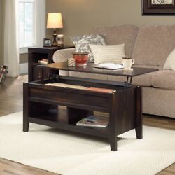 Rustic Coffee Table Dark Pine Wood Cabin Lift Top Style Distressed Furniture