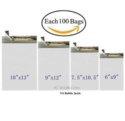 400 Poly Mailers Shipping Bags Each 100 6x9 7.5x10.5 9x12 10x13 - ST ShipMailers $26.99