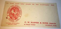 Antique American Fireman's Fund Insurance Co. Advertising Ink Blotter! Rescue!