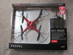 Brand New Propel RC Sky Rider 2.4GHz Quadcopter with Onboard Camera Red OD 2114 $89.98
