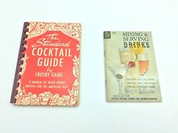 Crosby Gaige 1944 The Standard COCKTAIL GUIDE & Dell 1963 Mixing Serving Drinks