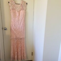 Classy Long Prom Ball Bridesmaids Dress   Morgan amp; Co. Lace Size 9 10 $69.30