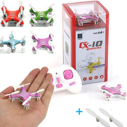 Cheerson CX 10 2.4G Aircraft GYRO Mini RC Quadcopter LED UFO Drone Helicopter US $19.72