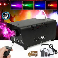 Profession 500W RGB LED Fog Smoke Machine DJ Stage Effect Light Wireless Remote $37.98