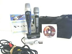 Magic Sing ET13K Karaoke Mic Lot With Extra Mic #EX190 carry bag song chips CD