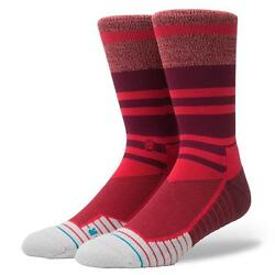 STANCE SOCKS MEARA CREW FUSION M557A17MEA RED Mens Large 9 12 $15.95