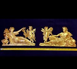 FRENCH ANTIQUE LOUIS XVI GOLD GILT DORE RESIN WALL DOOR MOULDING DECORATION GBP 58.95