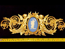 FRENCH ANTIQUE LOUIS XVI GOLD GILT DORE RESIN WALL DOOR MOULDING DECORATION GBP 29.95
