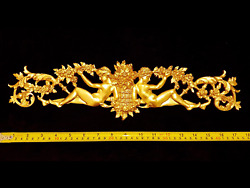 FRENCH ANTIQUE LOUIS XVI GOLD GILT DORE RESIN WALL FRAME MOULDING DECORATION GBP 29.95