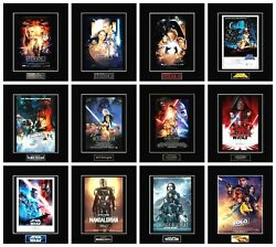 12 STAR WARS 8quot; x 10quot; Episode Movie Poster Photos All 11quot; x 14quot; Black Matted $85.00