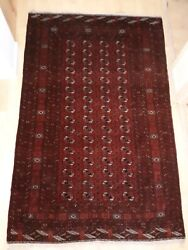 BOKHARA AFGAN SEMI ANTIQUE RUG FROM HAIL SELASSIE TO NEW ZEALAND AMBASSADOR