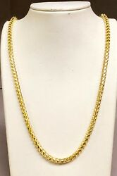 14KT Solid Yellow Gold DC Franco Curb Link 30
